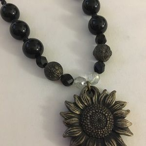 Jewelry - Set Sunflower Necklace & Earrings